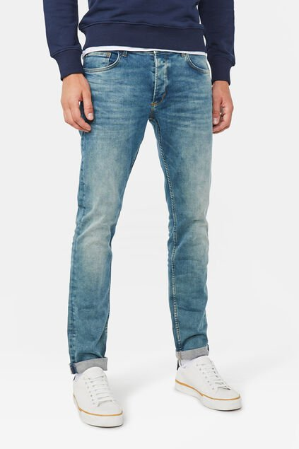 Herren-Slim-Fit-Jeans mit Super Stretch Blau