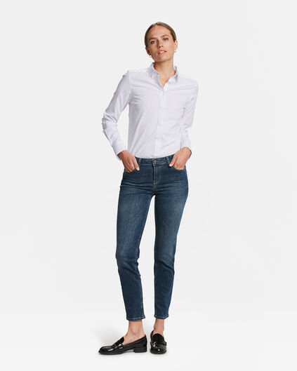 DAMEN-SLIM-FIT-JEANS AUS HIGH-STRETCH-DENIM Blau