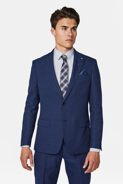 Herren-Regular-Fit-Sakko Sorrento Marineblau