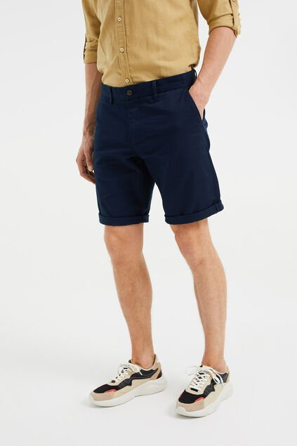 Herren-Regular-Fit-Chinoshorts Dunkelblau