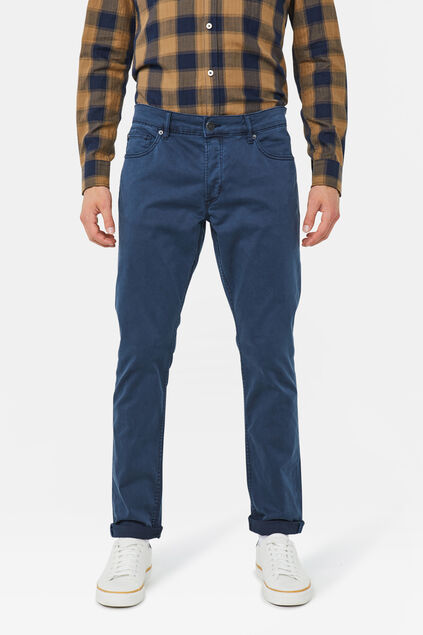 Herren-Slim-Fit-Jeans mit Tapered Leg Graublau