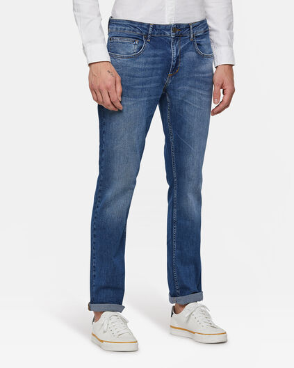 Herren-Regular-Fit-Jeans Blau
