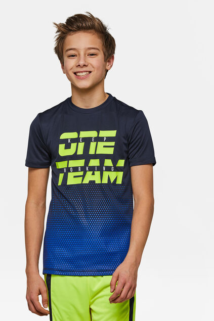 "Jungen-T-Shirt ""One Team Sport"" Blau"
