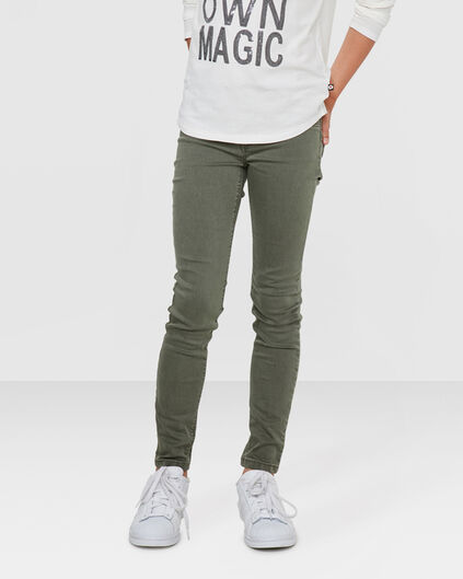 MÄDCHEN-SUPERSKINNY-POWER-STRETCH-JEGGING Armeegrün