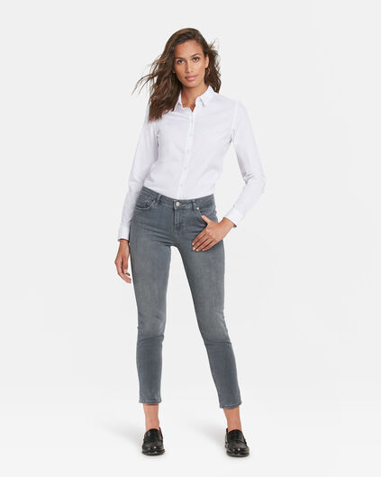 DAMEN-SLIM-FIT-JEANS AUS HIGH-STRETCH-DENIM Hellgrau
