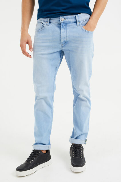 Herren-Slim-Fit-Jeans aus Super-Stretch Hellblau