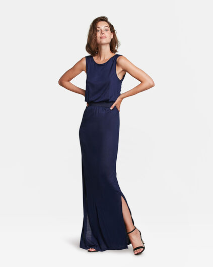 DAMEN-MAXIKLEID MIT CUT-OUT-DETAIL Marineblau