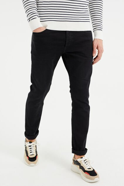 Herren-Superstretch-Jeans im Slim-Fit Schwarz