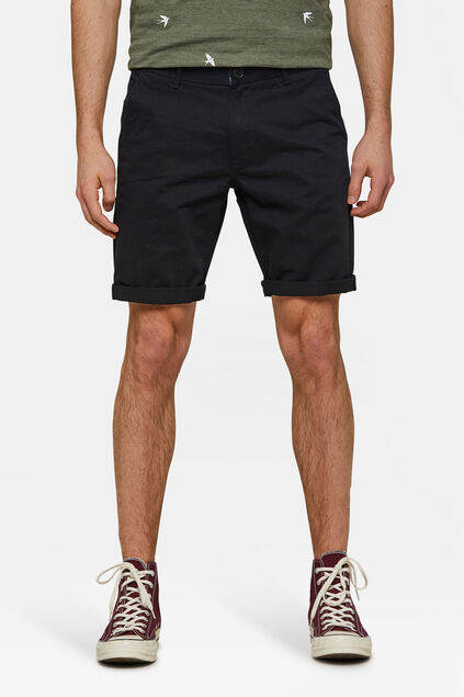 Herren-Regular-Fit-Chinoshorts Schwarz
